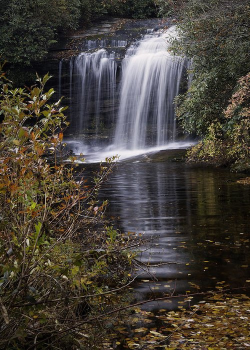 Autumn Greeting Card featuring the photograph Schoolhouse Falls by Rob Travis