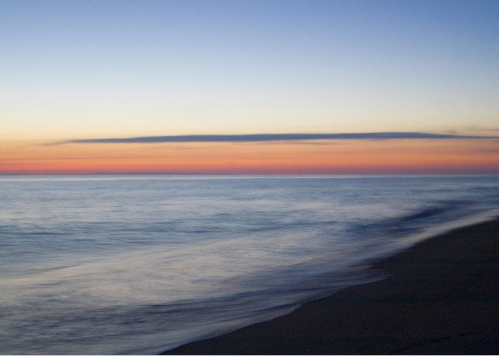 Nantucket Greeting Card featuring the photograph Sciasconset Morning Nantucket by Henry Krauzyk