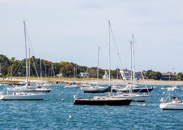 Anchor Greeting Card featuring the photograph Scituate Harbor by Brian MacLean
