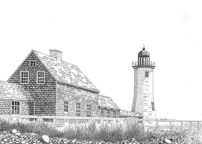 Cape Cod Mass Drawings Greeting Cards
