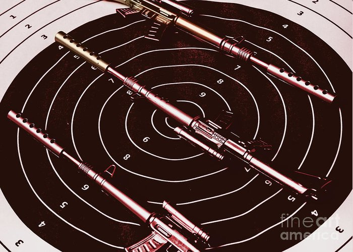 Sniper Greeting Card featuring the photograph Scopes Of Military Precision by Jorgo Photography - Wall Art Gallery
