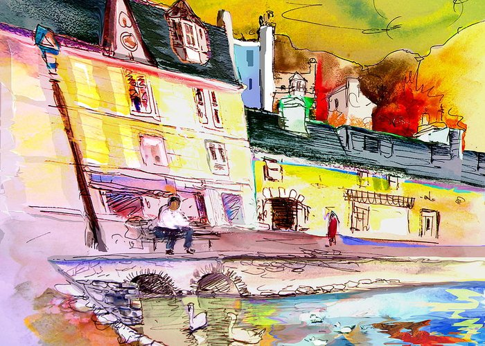 Scotland Paintings Greeting Card featuring the painting Scotland 04 by Miki De Goodaboom