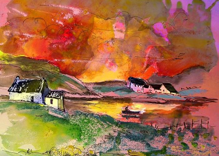 Scotland Paintings Greeting Card featuring the painting Scotland 07 by Miki De Goodaboom