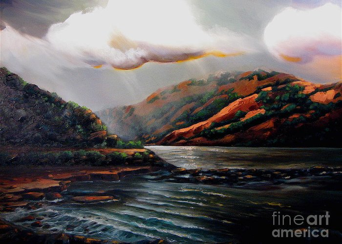 Landscape Greeting Card featuring the painting Scotland by Patricia Reed