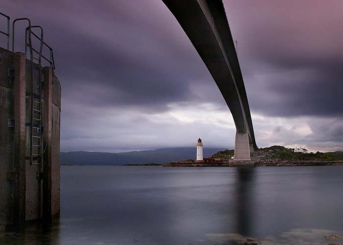 Scotland Greeting Card featuring the photograph Scotland Skye Bridge by Nina Papiorek