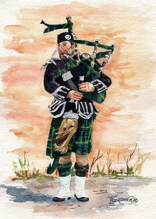 Bagpipers Greeting Cards