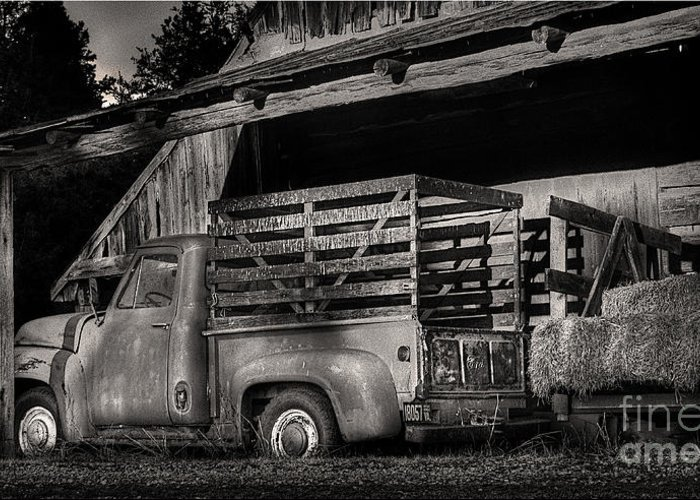 Scotopic Greeting Card featuring the photograph Scotopic Vision 5 - The Barn by Pete Hellmann