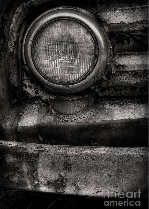 Scotopic Greeting Card featuring the photograph Scotopic Vision 7 - Headlight by Pete Hellmann