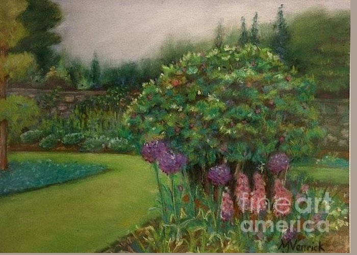 Landscape Greeting Card featuring the painting Scottish Garden by M J Venrick
