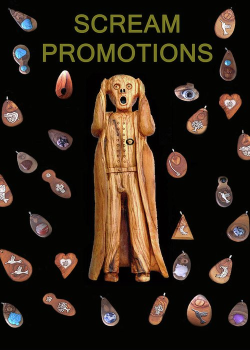 Scream Promotions Greeting Card featuring the mixed media Scream Promotions by Eric Kempson
