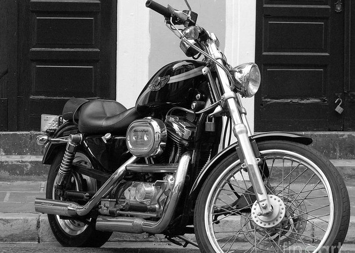 Motorcycle Greeting Card featuring the photograph Screamin Eagle by Debbi Granruth