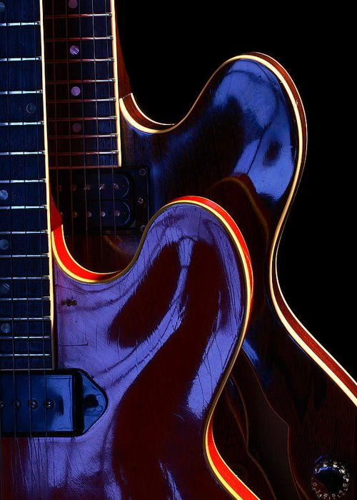 Guitar Greeting Card featuring the photograph Screaming Guitars by Art Ferrier