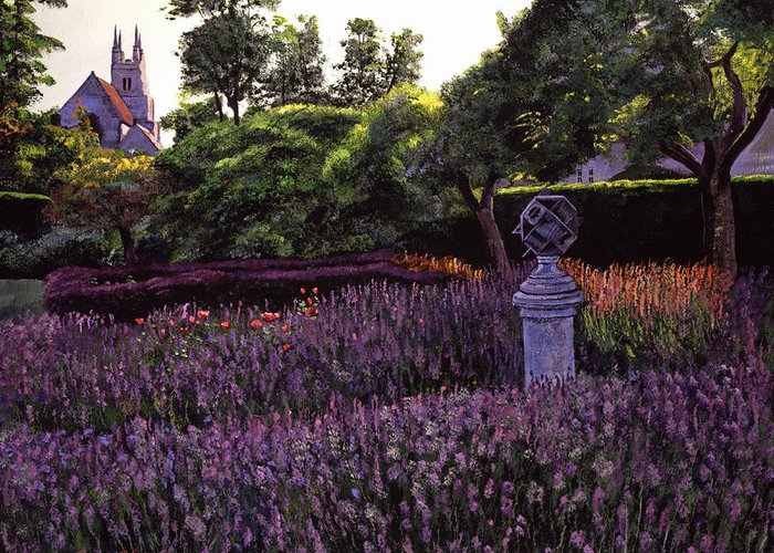 Gardens Greeting Card featuring the painting Sculpture Garden by David Lloyd Glover