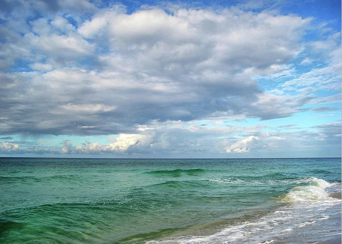 Surf Greeting Card featuring the photograph Sea And Sky - Florida by Sandy Keeton