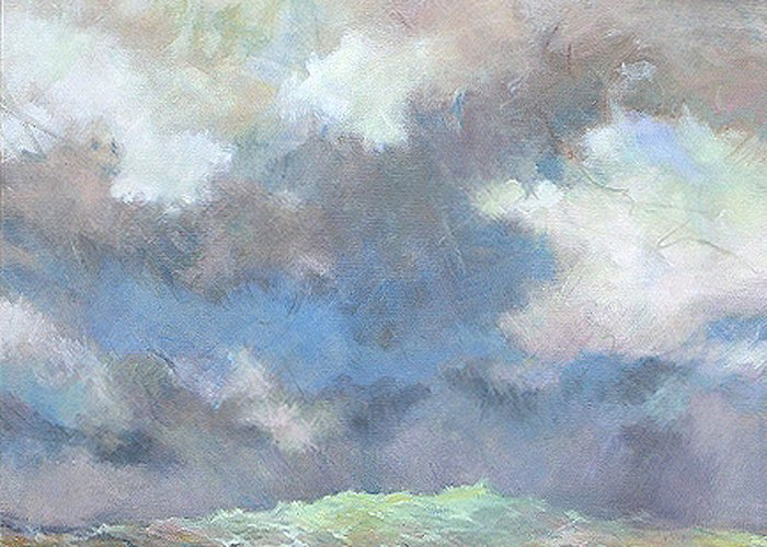 Seascape Greeting Card featuring the painting Sea Glow by Marilyn Muller