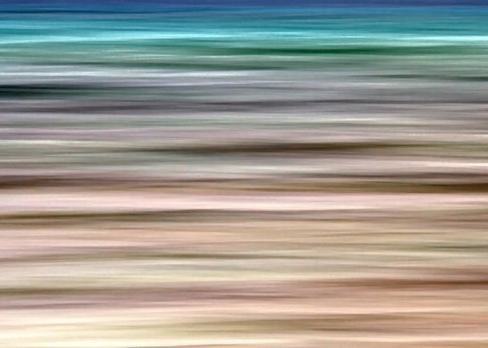 Abstract Greeting Card featuring the photograph Sea Movement by Stelios Kleanthous