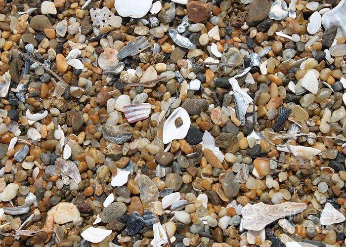 Beach Greeting Card featuring the photograph Sea Rocks by Marcie Daniels