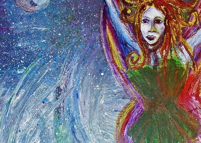 Fairy Greeting Card featuring the painting Sea Sprite by Jennifer Addington
