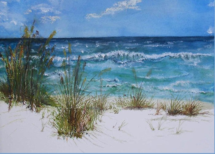 Sea Greeting Card featuring the painting Sea Study 08 by Sibby S