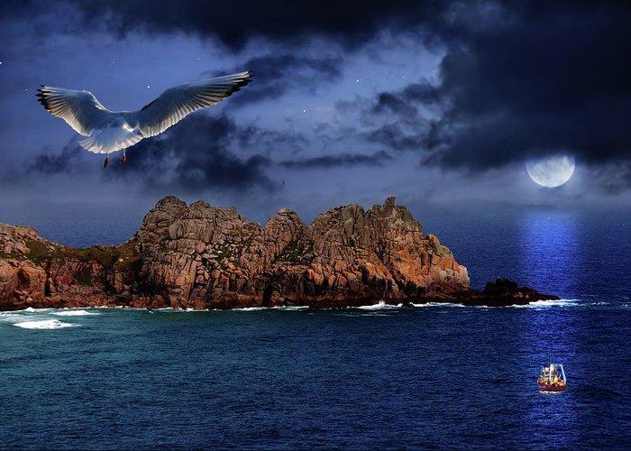 Beautiful Greeting Card featuring the photograph Seagull Flight by Jaroslaw Grudzinski
