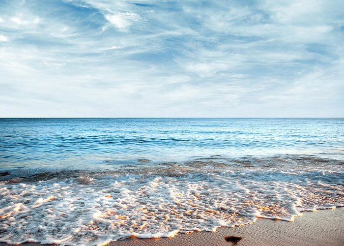 Background Greeting Card featuring the photograph Seashore by Carlos Caetano