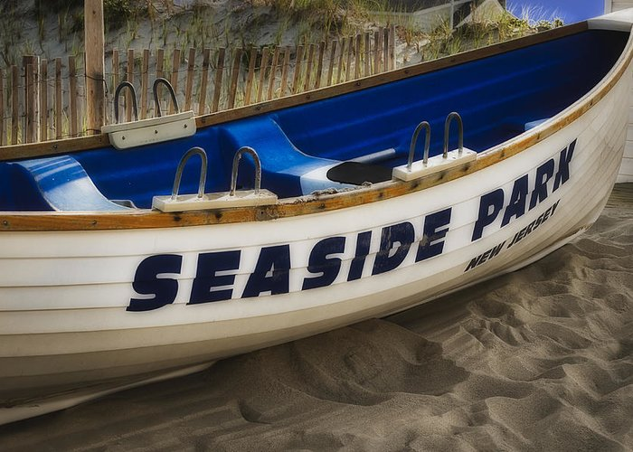 Jersey Shore Greeting Card featuring the photograph Seaside Park New Jersey by Susan Candelario