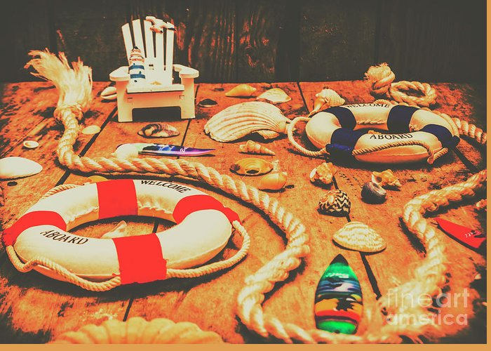 Nautical Greeting Card featuring the photograph Seaside Ropes And Nautical Decks by Jorgo Photography - Wall Art Gallery