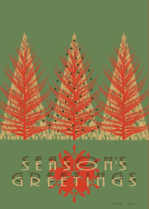 Holidays Greeting Card featuring the mixed media Season' Greetings 1 by Robert Todd