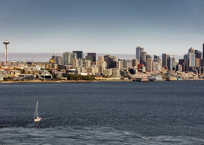 Alaska Greeting Card featuring the photograph Seattle By Sea by David Harwood
