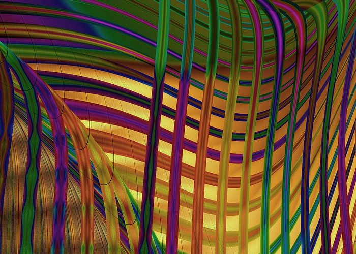 Fractal Greeting Card featuring the digital art Seaweed by Vicky Brago-Mitchell