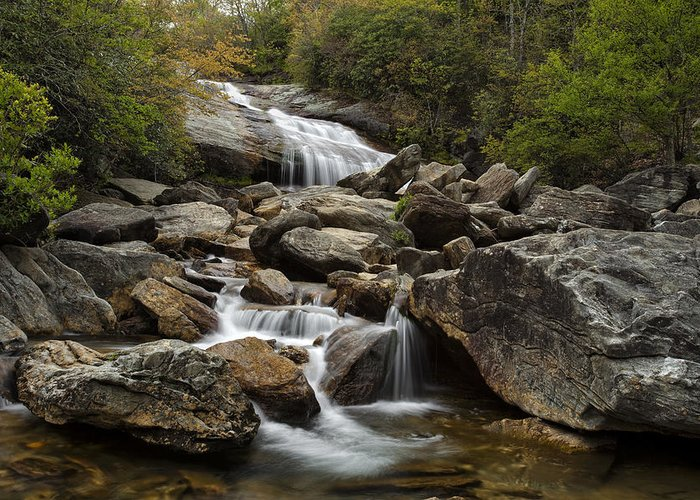 Waterfall Greeting Card featuring the photograph Second Falls - Blue Ridge Falls by Andrew Soundarajan