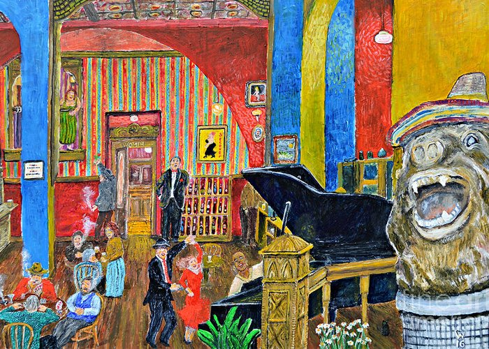 Wandell Greeting Card featuring the painting Secouer by Richard Wandell