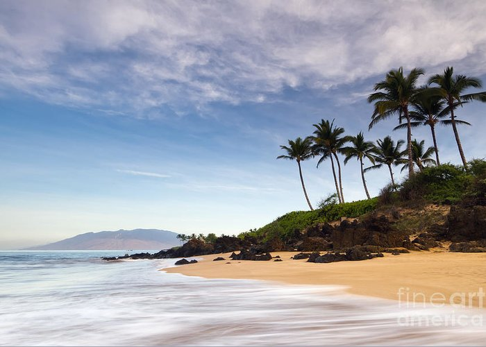 Secret Beach Greeting Card featuring the photograph Secret Beach Maui Sunrise by Dustin K Ryan