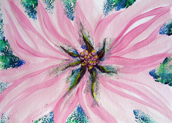 Flower Form Greeting Card featuring the painting Secret Eye Of Faith II by Sarah Hornsby