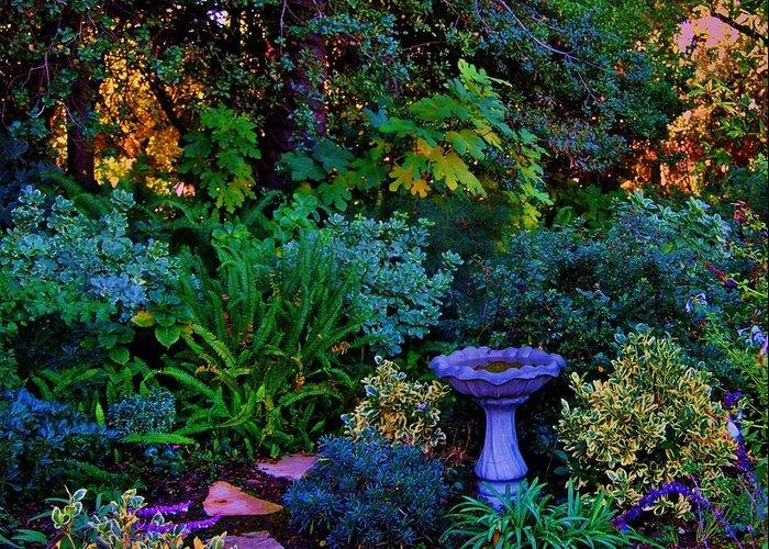 Garden Greeting Card featuring the photograph Secret Garden by Helen Carson