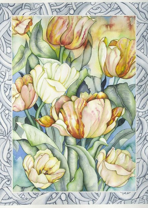 Flowers Greeting Card featuring the painting Secret World IIi by Liduine Bekman