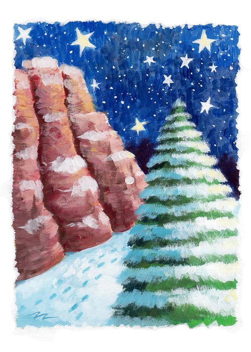 Sedona Greeting Card featuring the painting Sedona Holiday by Mark Hicks