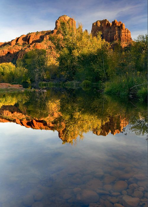 Reflection Greeting Card featuring the photograph Sedona Sunset by Mike Dawson