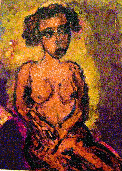 Slavery Greeting Card featuring the painting Seduction by Noredin Morgan