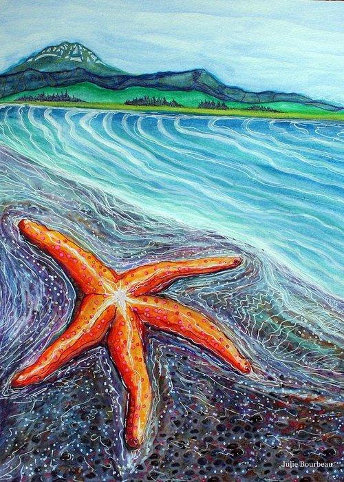Seastar Paintings Greeting Cards