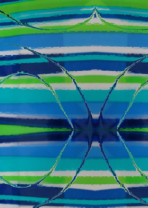 Abstract Greeting Card featuring the painting See Thru Blue by Florene Welebny