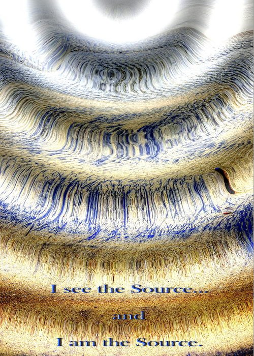 Abstract Photography Greeting Card featuring the photograph Seeing The Source by Richard Omura
