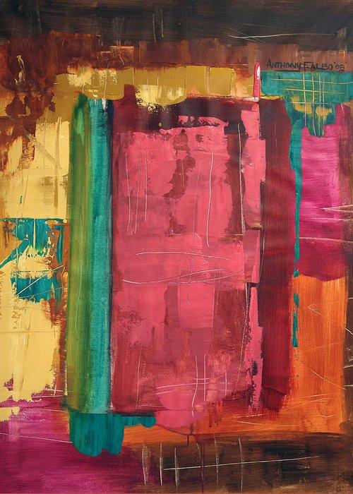 Seek And You Shall Find Greeting Card featuring the painting Seek And You Shall Find by Anthony Falbo
