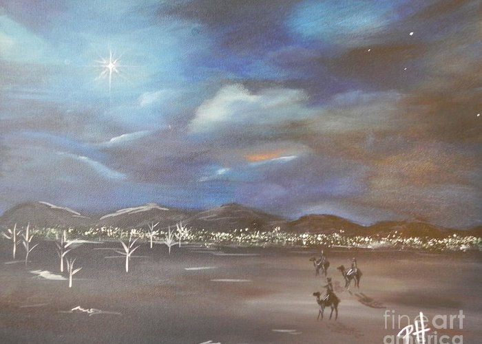 Wise Men Greeting Card featuring the painting Seek by Patti Spires Hamilton