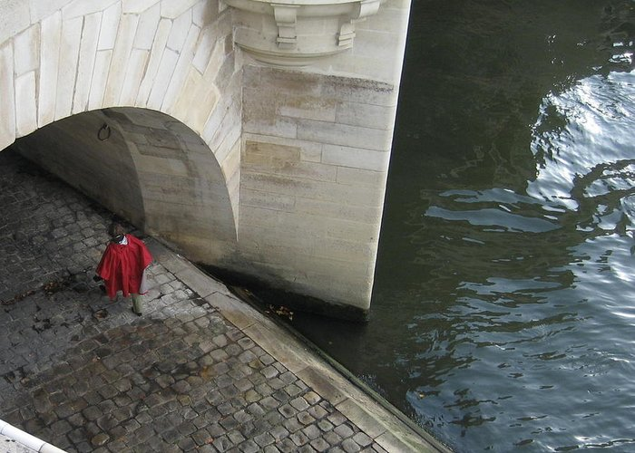 Greeting Card featuring the photograph Seine by Victoria Heryet