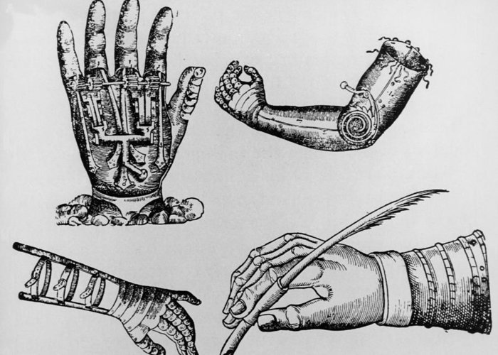 Arm Greeting Card featuring the photograph Selection Of 16th Century Artificial Arms & Hands. by Dr Jeremy Burgess.