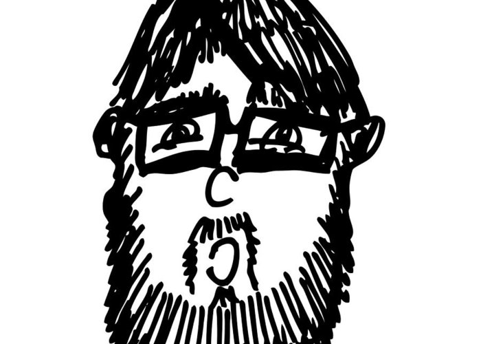 Drawing Greeting Card featuring the drawing Self Comic Drawing by Karl Addison