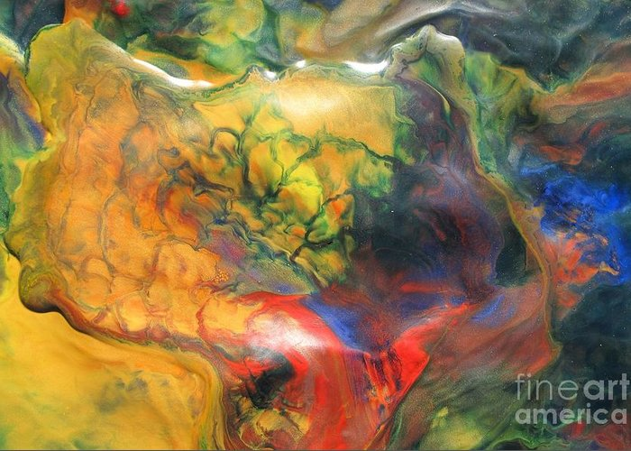 Bold Colors Greeting Card featuring the painting Self Discovery by Denise Nickey