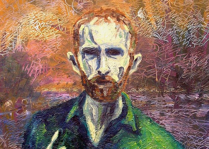 Self Portrait Greeting Card featuring the painting Self Portrait by John Nolan