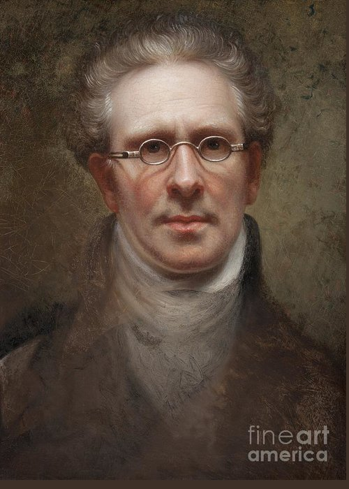 Self Greeting Card featuring the painting Self Portrait by Rembrandt Peale